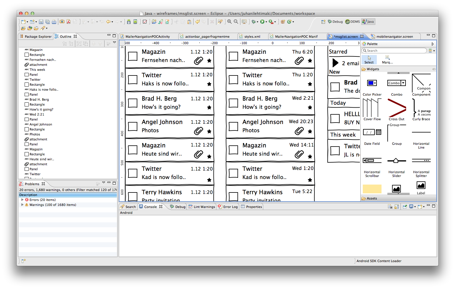 what items are important in every android project - Android Ui Maker